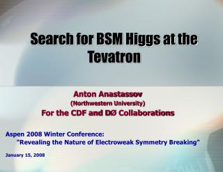 Search for BSM Higgs at the Tevatron