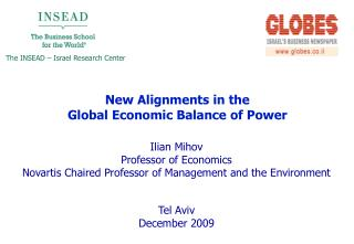 Ilian Mihov Professor of Economics Novartis Chaired Professor of Management and the Environment