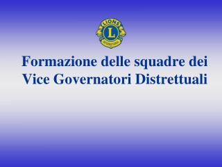 Formazione delle squadre dei Vice Governatori Distrettuali