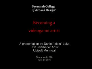 Becoming a  videogame artist