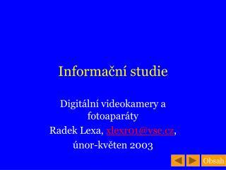 Informační studie