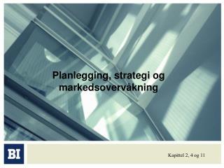 Planlegging, strategi og markedsoverv kning