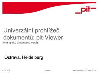 Univerzální prohlížeč dokumentů:  pit-Viewer (v anglické a německé verzi)