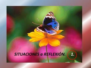 SITUACIONES a REFLEXIÓN.      1.
