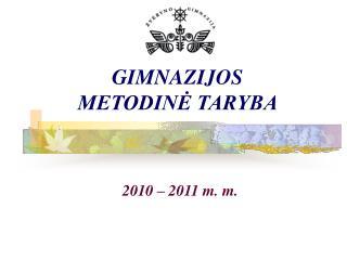 GIMNAZIJOS METODINĖ TARYBA