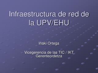 Infraestructura de red de la UPV/EHU