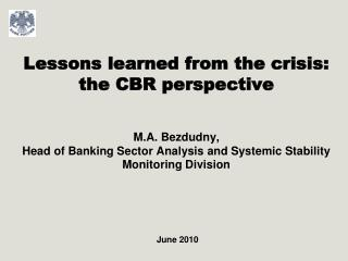 Major vulnerability factors of the Banking sector and Russian economy
