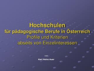 von Karl Heinz Auer