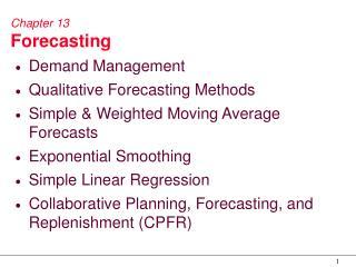 Chapter 13 Forecasting
