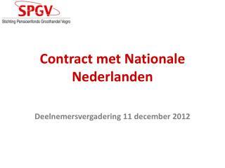Contract met Nationale Nederlanden