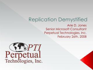 Replication Demystified