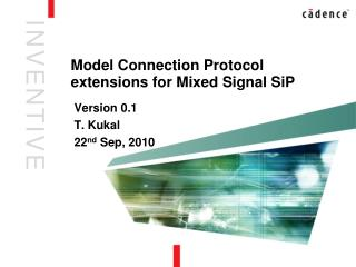 Model Connection Protocol extensions for Mixed Signal SiP