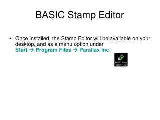 BASIC Stamp Editor