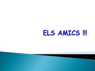 ELS AMICS !!!