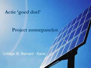Project zonnepanelen
