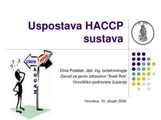 Uspostava HACCP sustava
