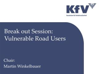 Break out Session: Vulnerable Road Users