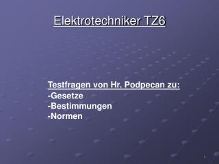 Elektrotechniker TZ6