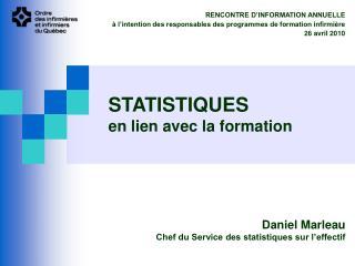 STATISTIQUES en lien avec la formation