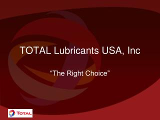 TOTAL Lubricants USA, Inc