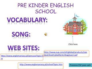 PRE KINDER ENGLISH SCHOOL