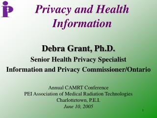 Privacy and Health Information