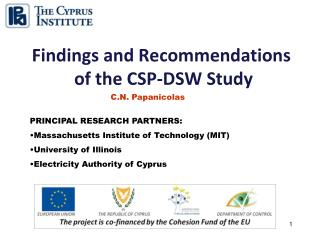 Findings and Recommendations  of the CSP-DSW Study