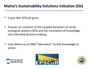 Maine's Sustainability Solutions Initiative (SSI)