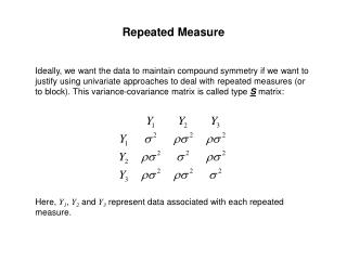 Repeated Measure