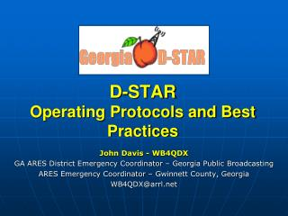 D-STAR Operating Protocols and Best Practices
