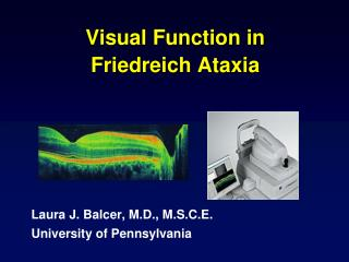 Visual Function in  Friedreich Ataxia