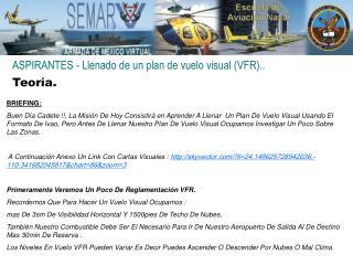 ASPIRANTES - Llenado de un plan de vuelo visual (VFR)..