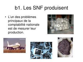 b1. Les SNF produisent
