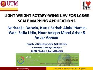 LIGHT WEIGHT ROTARY-WING UAV FOR LARGE SCALE MAPPING APPLICATIONS