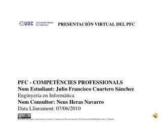 PRESENTACIÓN VIRTUAL DEL PFC
