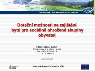 1. ERDF – Evropský fond pro regionální rozvoj