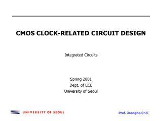 CMOS CLOCK-RELATED CIRCUIT DESIGN