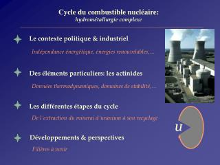 Les diff � rentes  � tapes du cycle