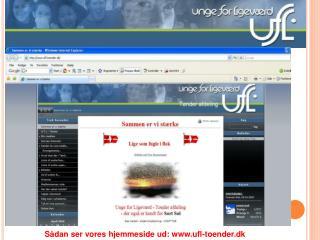 Sådan ser vores hjemmeside ud: ufl-toender.dk