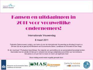 Internationale Vrouwendag  8 maart 2011