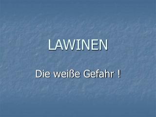 LAWINEN