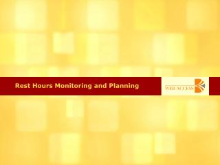 Rest Hours Monitoring and Planning