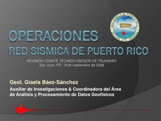 Operaciones red sismica de puerto rico