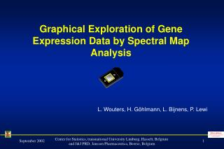 Graphical Exploration of Gene Expression Data by Spectral Map Analysis