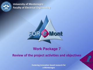 University of Montenegro  Faculty of Electrical Engineering