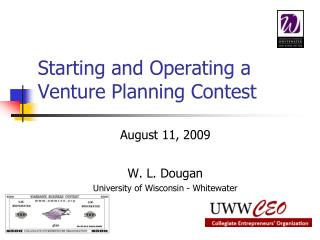 Starting and Operating a Venture Planning Contest