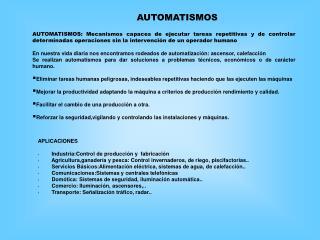 APLICACIONES · Industria:Control de producción y  fabricación