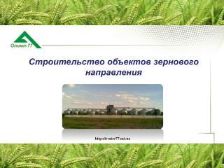 Строительство объектов  зернового направления