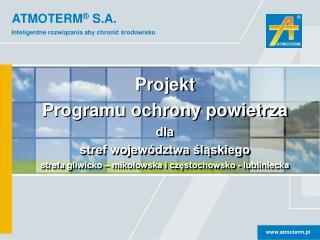 Program  ochrony powietrza  dla Śląska