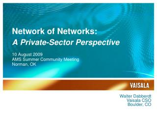 Network of Networks: A Private-Sector Perspective